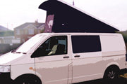 Van fitted with a Vanmax Poptop